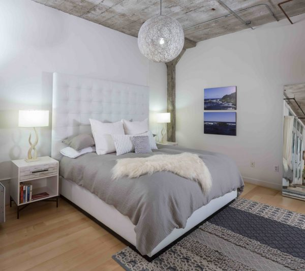 bedroom decorating ideas and designs Remodels Photos Visual Jill Interior Decorating Berkeley California united states industrial-bedroom-001