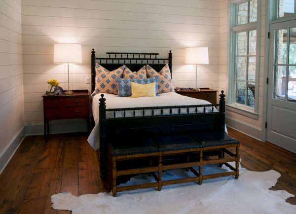 bedroom decorating ideas and designs Remodels Photos Yellow Door Design Austin Texas united states farmhouse-bedroom