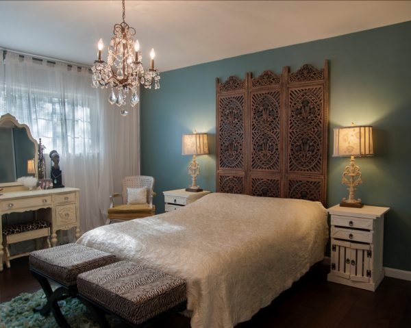 bedroom decorating ideas and designs Remodels PhotosTal Goldstein Sunnyvale California United States eclectic-bedroom