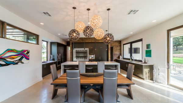 dining room decorating ideas and designs Remodels Photos Adam Wilson Custom Homes San Antonio Texas United States contemporary-dining-room-004