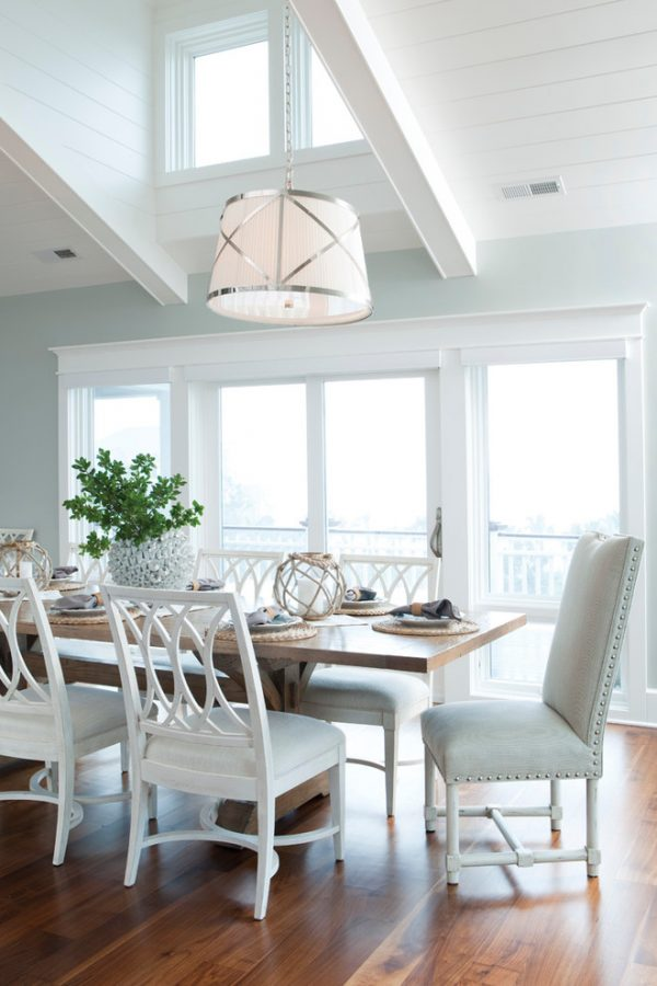 dining room decorating ideas and designs Remodels Photos Amy Tyndall Design Wilmington, NC Carolina United States beach-style-dining-room