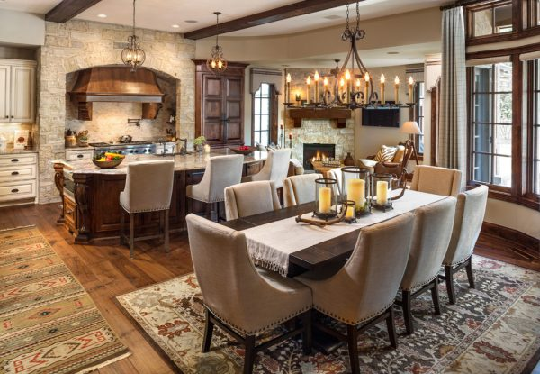 dining room decorating ideas and designs Remodels Photos Ascent Custom HomesWaukesha Wisconsin United States rustic-kitchen-001