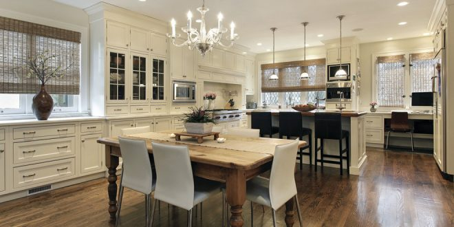 dining room decorating ideas and designs Remodels Photos Audacia Design Downsview Kitchens Mount Royal Québec, Canada United States traditional-kitchen