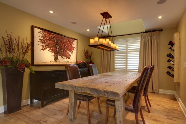 dining room decorating ideas and designs Remodels Photos Avalon Interiors Thornhill Ontario Canada rustic-dining-room