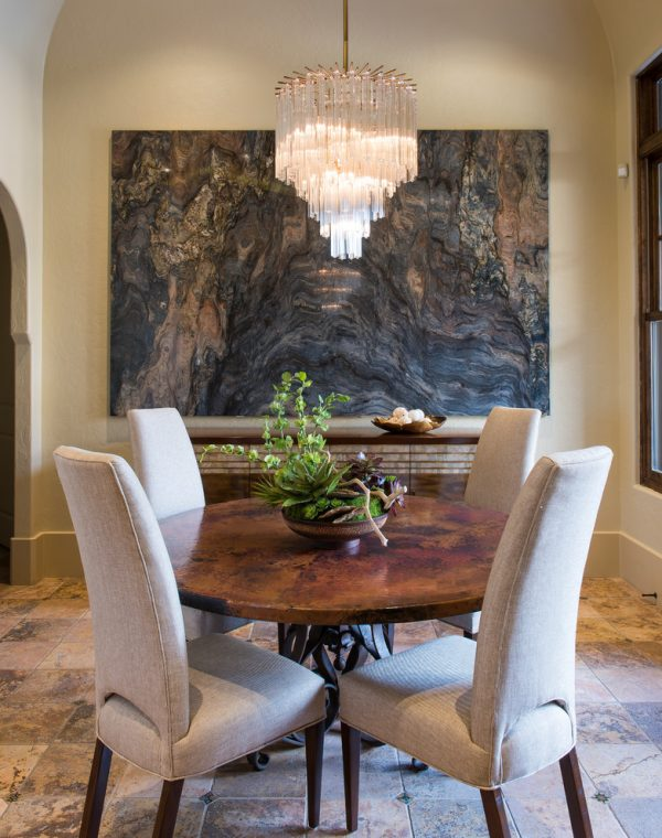 dining room decorating ideas and designs Remodels Photos Barbara Gilbert Interiors Dallas Texas United States mediterranean-dining-room-001