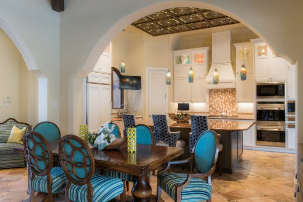 dining room decorating ideas and designs Remodels Photos Barbara Gilbert Interiors Dallas Texas United States mediterranean-dining-room