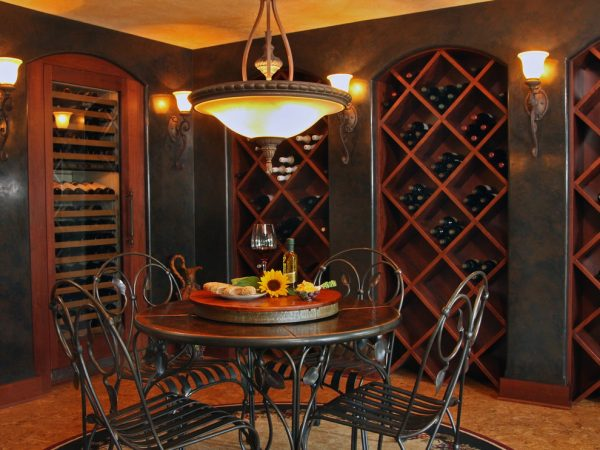 dining room decorating ideas and designs Remodels Photos Bartelt Delafield Wisconsin United States traditional-wine-cellar