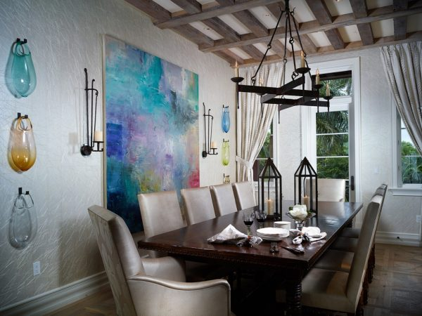 dining room decorating ideas and designs Remodels Photos Bruce Palmer Design Studio Wilmington Delaware United States mediterranean-dining-room