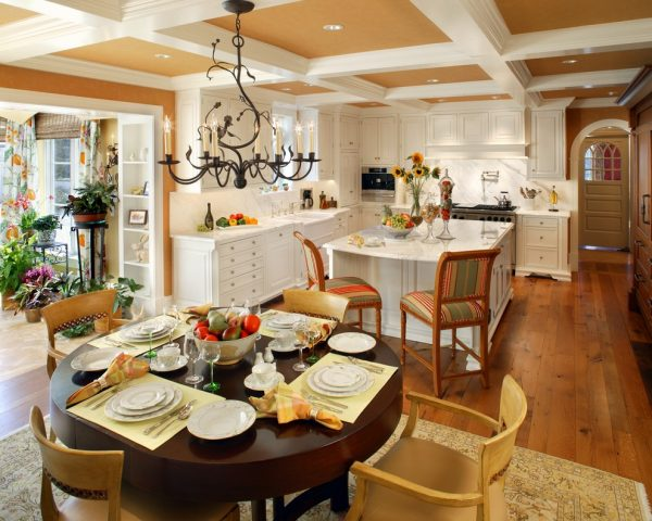 dining room decorating ideas and designs Remodels Photos Bruce Palmer Design Studio Wilmington Delaware United States traditional-kitchen