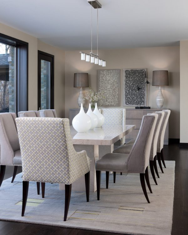dining room decorating ideas and designs Remodels Photos ashley campbell interior design Denver Colorado United States contemporary-dining-room-004