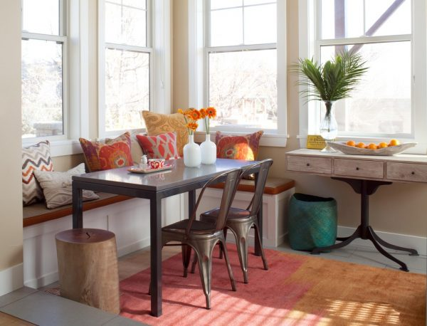 dining room decorating ideas and designs Remodels Photos ashley campbell interior design Denver Colorado United States eclectic-dining-room