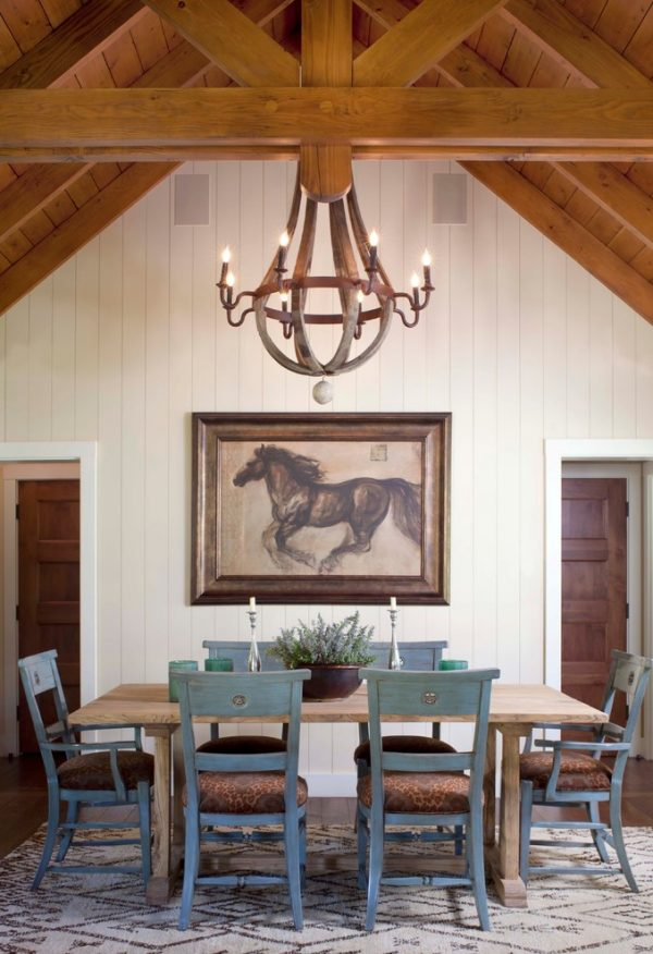 dining room decorating ideas and designs Remodels Photos ashley campbell interior design Denver Colorado United States rustic-dining-room