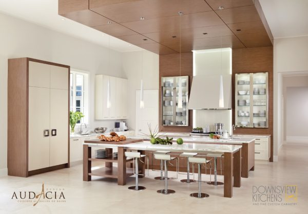 kitchen decorating ideas and designs Remodels Photos Audacia Design Downsview Kitchens Mount Royal Québec, Canada United States modern-kitchen
