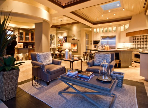 living room decorating ideas and designs Remodels Photos AB Design Elements, LLC Scottsdale Arizona United States transitional-kitchen
