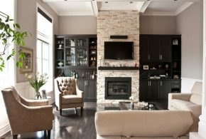 Living Room Decorating and Designs by Audacia Design Downsview Kitchens - Mount Royal, Québec, Canada