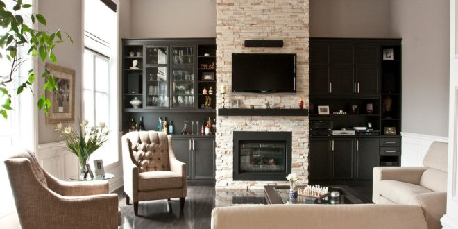 living room decorating ideas and designs Remodels Photos Audacia Design Downsview Kitchens Mount Royal Québec, Canada United States contemporary-family-room