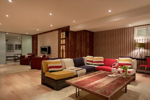 living room decorating ideas and designs Remodels Photos Avalon Interiors Thornhill Ontario Canada eclectic-basement-001