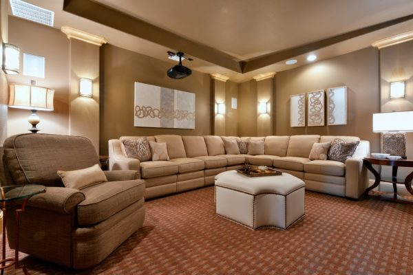 living room decorating ideas and designs Remodels Photos Barbara Gilbert Interiors Dallas Texas United States traditional-home-theater-001