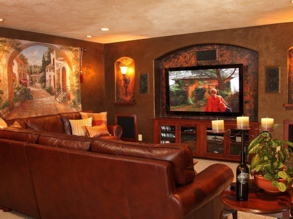 living room decorating ideas and designs Remodels Photos Bartelt Delafield Wisconsin United States traditional-basement