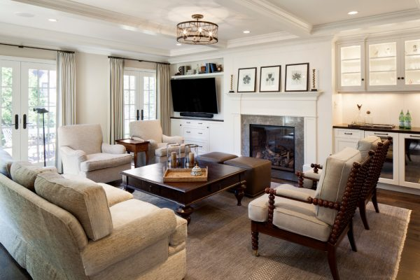 living room decorating ideas and designs Remodels Photos Bartelt Delafield Wisconsin United States traditional-family-room