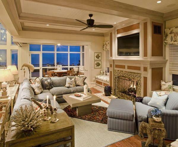 living room decorating ideas and designs Remodels Photos Bruce Palmer Design Studio Wilmington Delaware United States beach-style