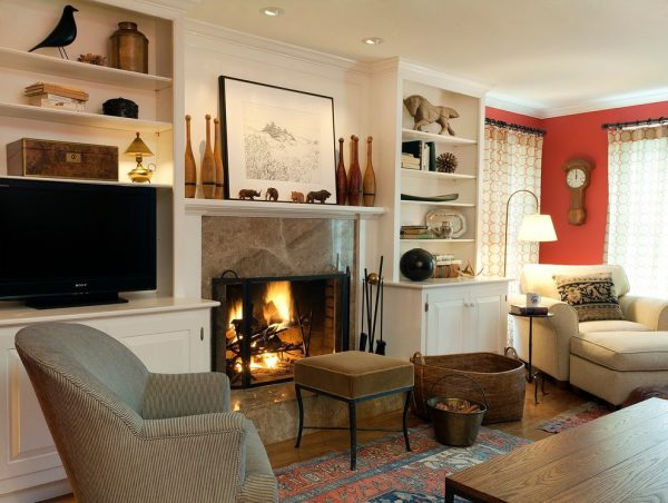 living room decorating ideas and designs Remodels Photos S+H Construction Cambridge Massachusetts United States contemporary-family-room-001
