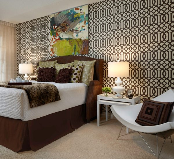 bedroom decorating ideas and designs Remodels Photos Adelene Keeler Smith Interior Design West Palm Beach Florida contemporary-bedroom-001