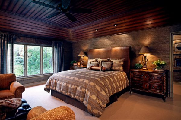 bedroom decorating ideas and designs Remodels Photos Ann-Marie Anton for It's Personal Design Grosse Pointe Farms eclectic-bedroom-001