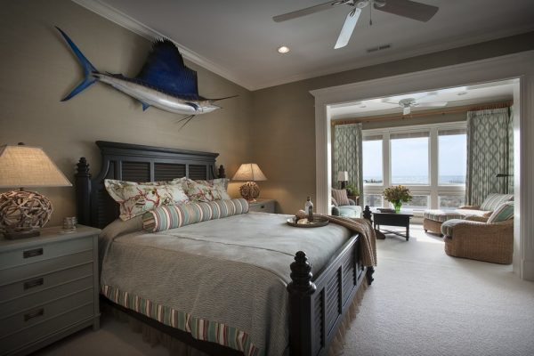 bedroom decorating ideas and designs Remodels Photos CHD Interiors Murrells Inlet South Carolina United States beach-style-bedroom-006