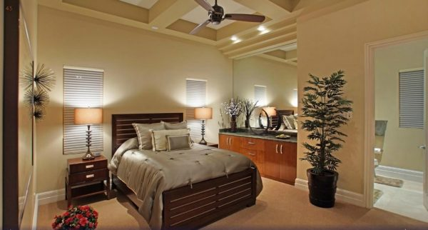 bedroom decorating ideas and designs Remodels Photos Charette Design Palm Springs California United States contemporary-bedroom-001