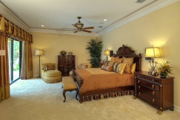 bedroom decorating ideas and designs Remodels Photos Decker Ross Interiors Clearwater Florida United States mediterranean-bedroom