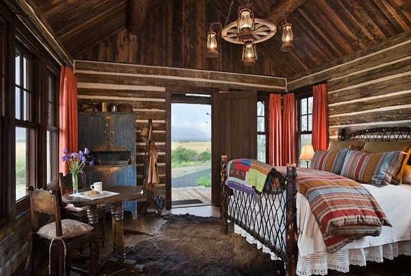 bedroom decorating ideas and designs Remodels Photos Design Associates - Lynette Zambon, Carol Merica Bozeman Montana rustic-001
