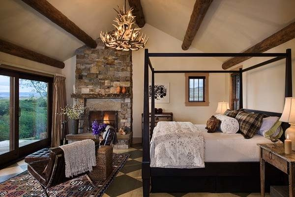 bedroom decorating ideas and designs Remodels Photos Design Associates - Lynette Zambon, Carol Merica Bozeman Montana rustic-002