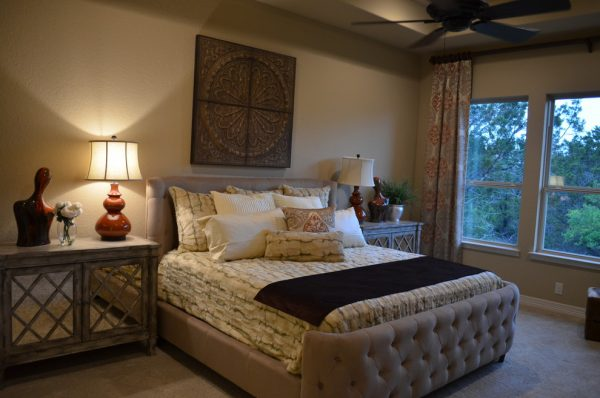 bedroom decorating ideas and designs Remodels Photos Finishing Touches Interior Design San Antonio Texas United States eclectic-bedroom-001