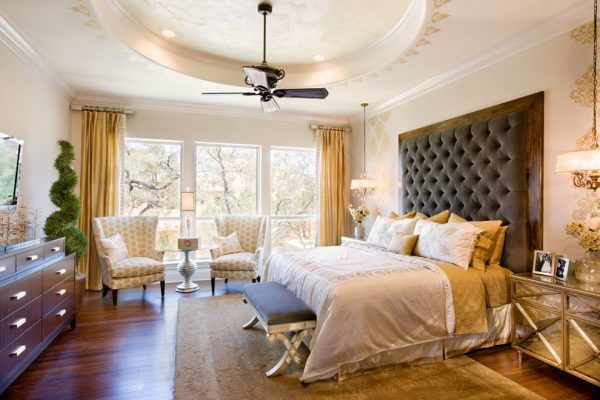 bedroom decorating ideas and designs Remodels Photos Finishing Touches Interior Design San Antonio Texas United States traditional-bedroom-001