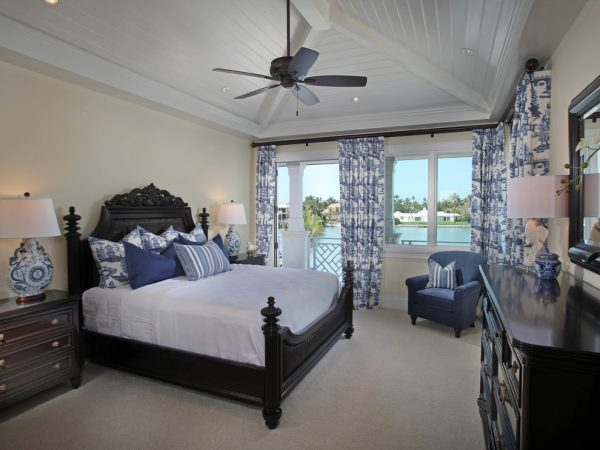 bedroom decorating ideas and designs Remodels Photos Jinx McDonald Interior Designs Naples Florida United States tropical-bedroom