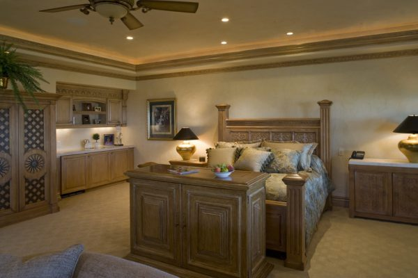 bedroom decorating ideas and designs Remodels Photos Macaluso Designs, Inc. Las Vega Nevada United States mediterranean-bedroom
