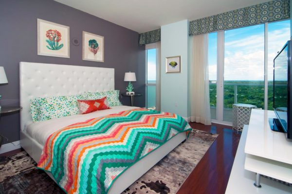 bedroom decorating ideas and designs Remodels Photos Mint Decor Inc. Miami Florida United States eclectic-003