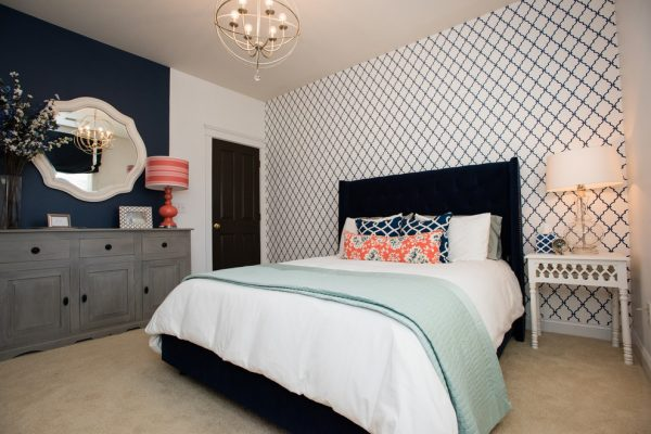 bedroom decorating ideas and designs Remodels Photos New South Home Matthews North Carolina United States modern-bedroom