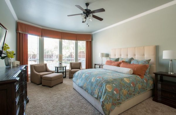 bedroom decorating ideas and designs Remodels Photos Nicole Arnold Interiors Dallas Texas United States transitional-bedroom-005