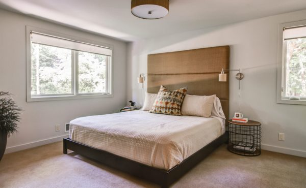 bedroom decorating ideas and designs Remodels Photos Rock Kauffman Design Grand Rapids Michigan United States midcentury-bedroom