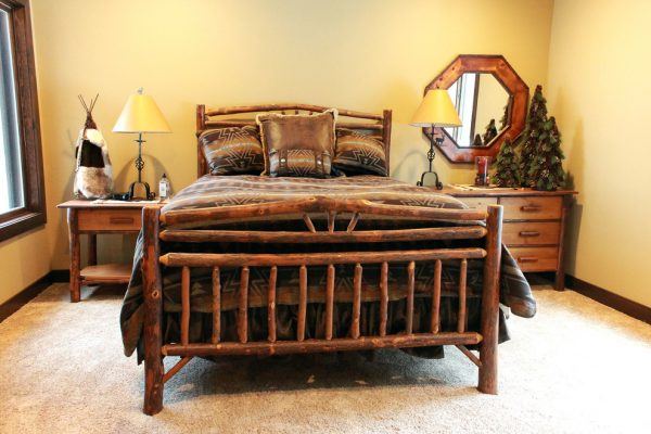 bedroom decorating ideas and designs Remodels Photos Roughing It In Style Madison Wisconsin United States rustic-bedroom-005