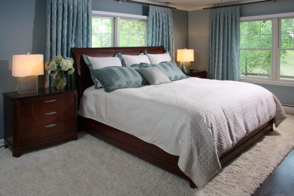 bedroom decorating ideas and designs Remodels Photos Sharon McCormick Design Durham Connecticut United States contemporary-bedroom