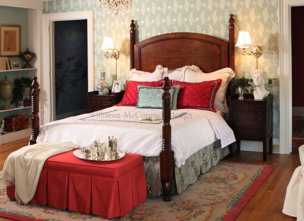 bedroom decorating ideas and designs Remodels Photos Sharon McCormick Design Durham Connecticut United States traditional-bedroom-001