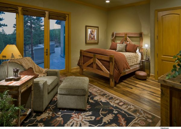 bedroom decorating ideas and designs Remodels Photos THID Truckee California United States rustic-bedroom-001