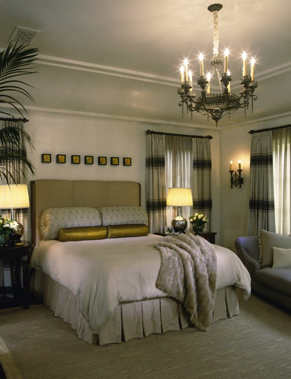 bedroom decorating ideas and designs Remodels Photos Tommy Chambers Interiors, Inc. Los Angeles California mediterranean-bedroom-001