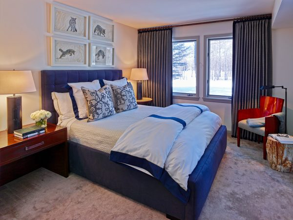 bedroom decorating ideas and designs Remodels Photos WRJ Design Jackson Wyoming United States contemporary-bedroom-003