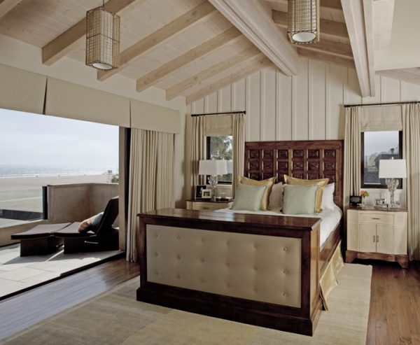 bedroom decorating ideas and designs Remodels Photos mark cutler West Hollywood California United States beach-style-bedroom