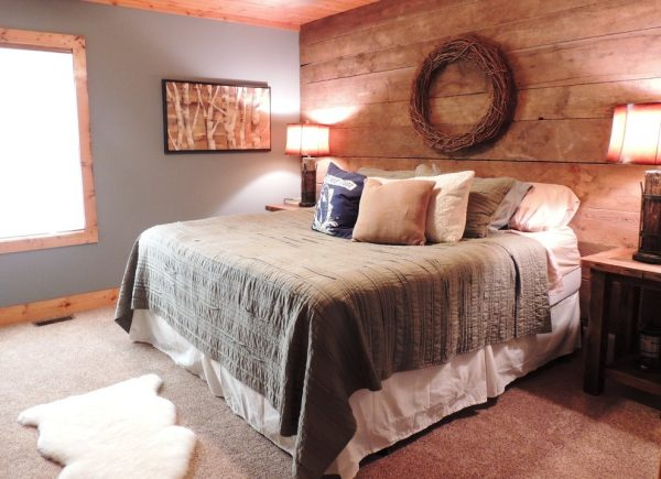 bedroom decorating ideas and designs Remodels Photo New Leaf Interiors Traverse City Michigan United States rustic-bedroom