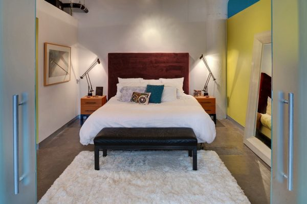 bedroom decorating ideas and designs Remodels PhotoTiffany Hanken Design Minneapolis Minnesota United States industrial-bedroom